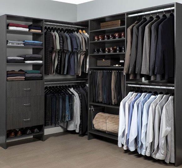 A well-organized closet.