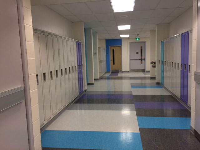 Inside Paul Desmarais high school