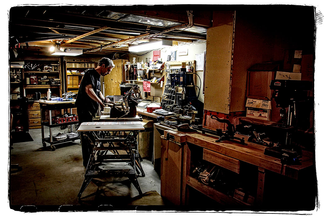 Paul Jay in his workshop. Photo by Barry Gray
