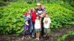 The Pazab Family: Agata and Preston Zabarowski, with Sonja, 11, Eloy, 9, Sasha, Arkadiusz, 3. Photo by Barry Gray.