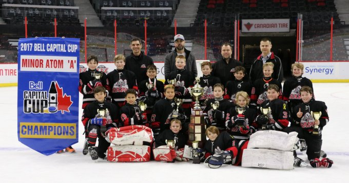 First row Goalies – Joshua Wainwright, Riley Martin Second row – Christian Lamb, Liam Mark, Cohen Sidney, Kallum Malloy, Ryan Wallace, Keegan Pearce, Cooper Stansel Third row – Ryan Power, Ryan Davidson, Marshall Jamieson, Ryder Pennell, Brody Yakabuski, Jack Lariviere, Mitchell Cairns, Bradley Farr Fourth Row Coaches – Dean Taylor, Jay Foran, Todd Pennell, Neil Farr, (missing from photo is Head Coach Mark Yakabuski and Tyler Sullivan)
