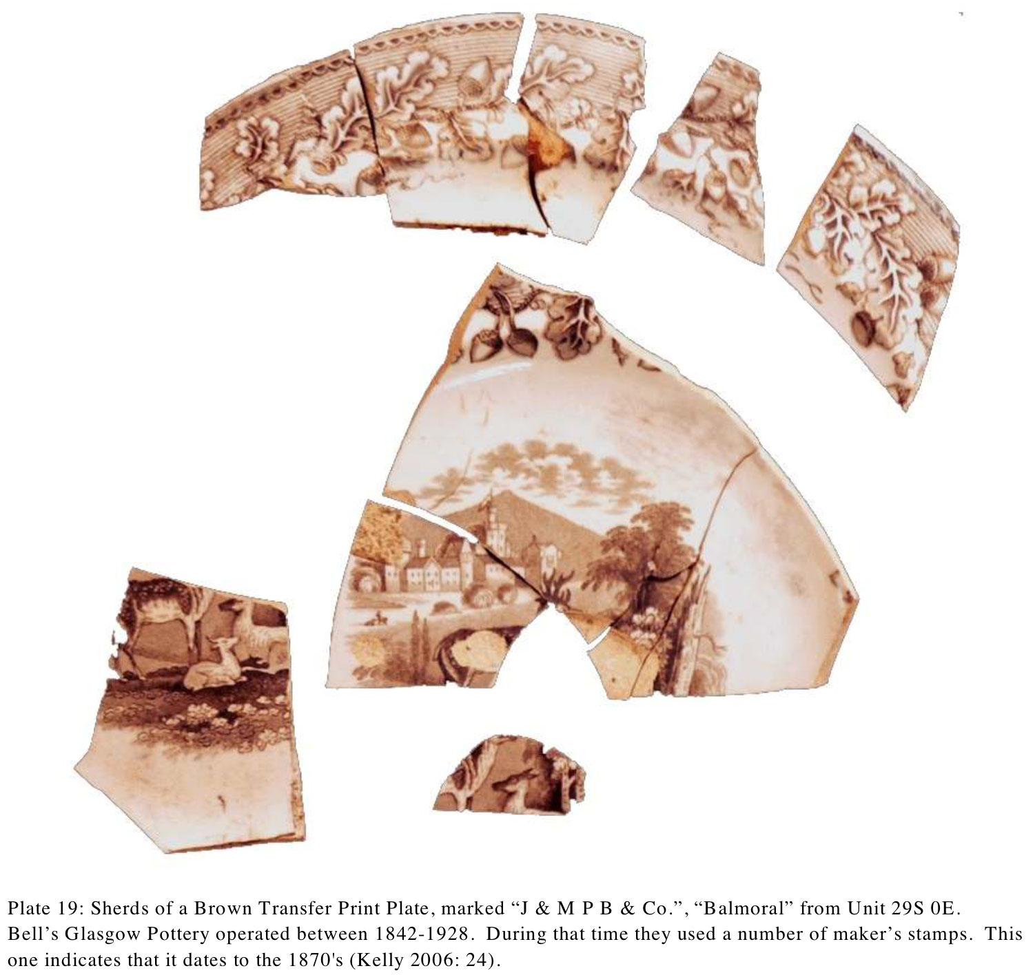 A plate found on the site. Photo via the archaeological report prepared by Adams Heritage.