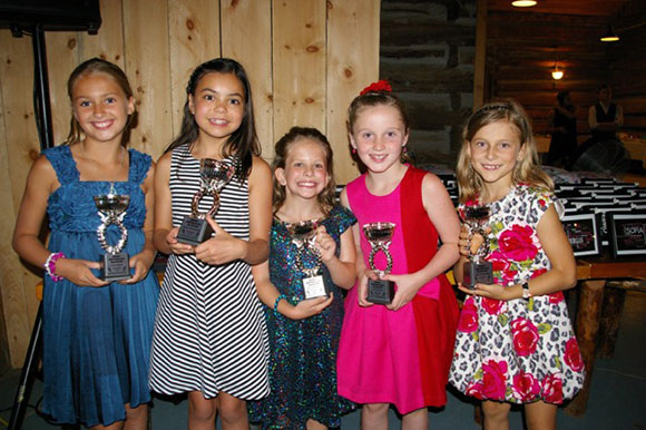 "Pointe of Grace's ""Most Improved"" Pre-Junior dancers were (from left to right): Ella Peckhoff, Rowan Hernandez, Ava Laurence, Olivia Dawe and Julia Duckering."
