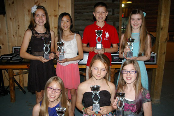 Pointe of Grace's Most Improved Junior dancers were: (Back row left to right) Madison McAllister, Vanessa Wong, Jacques Corbel, Amy Aitkenhead, (bottom row left to right) Emma Parrell, Rylee Fortier-Turner and Grace Bromley.