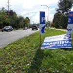 Damage to Conservative candidate's signs