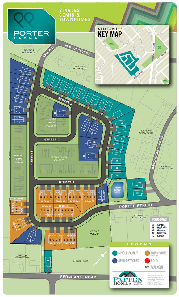 Porter Place subdivision map.