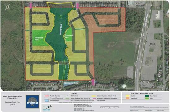 Minto Potter's Key subdivision plan