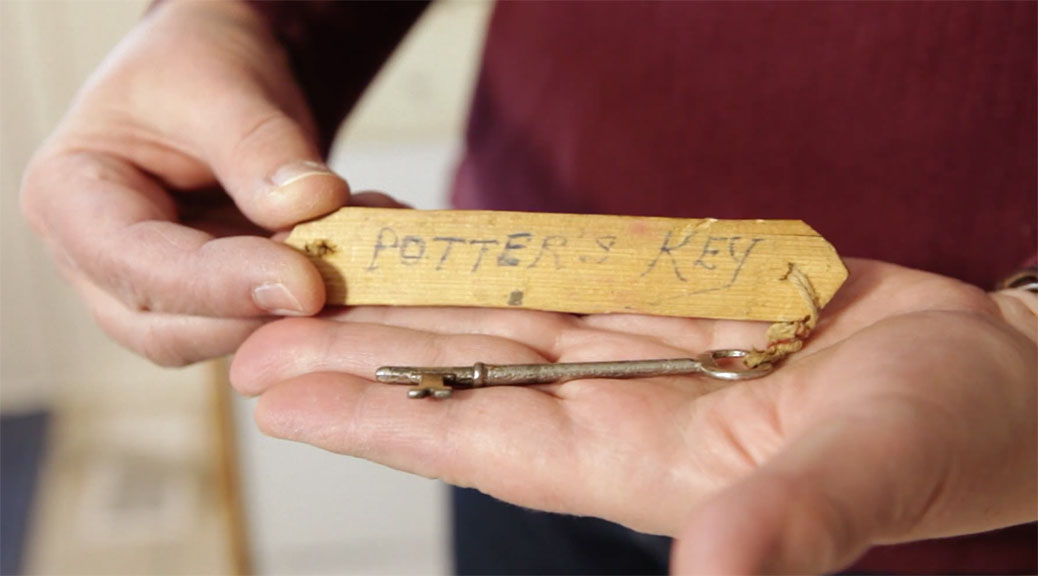 Debbie Eastop holds the original Potter's Key.