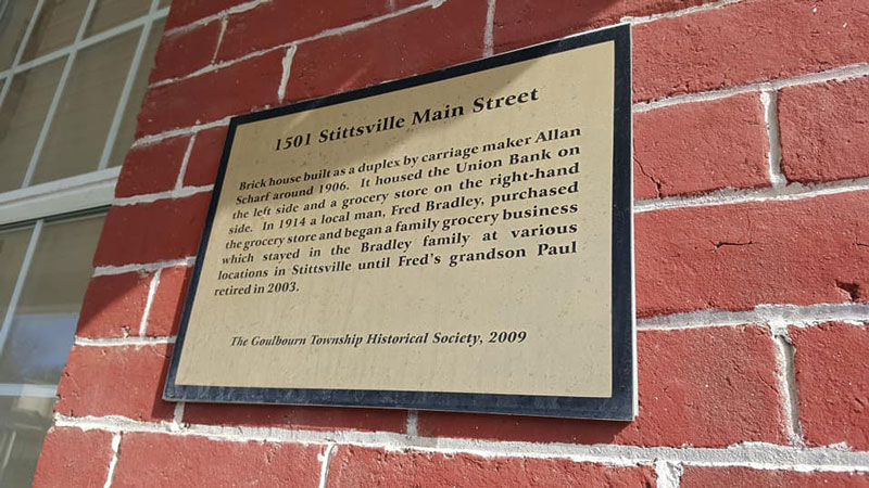 History of the building at 1501 Stittsville Main
