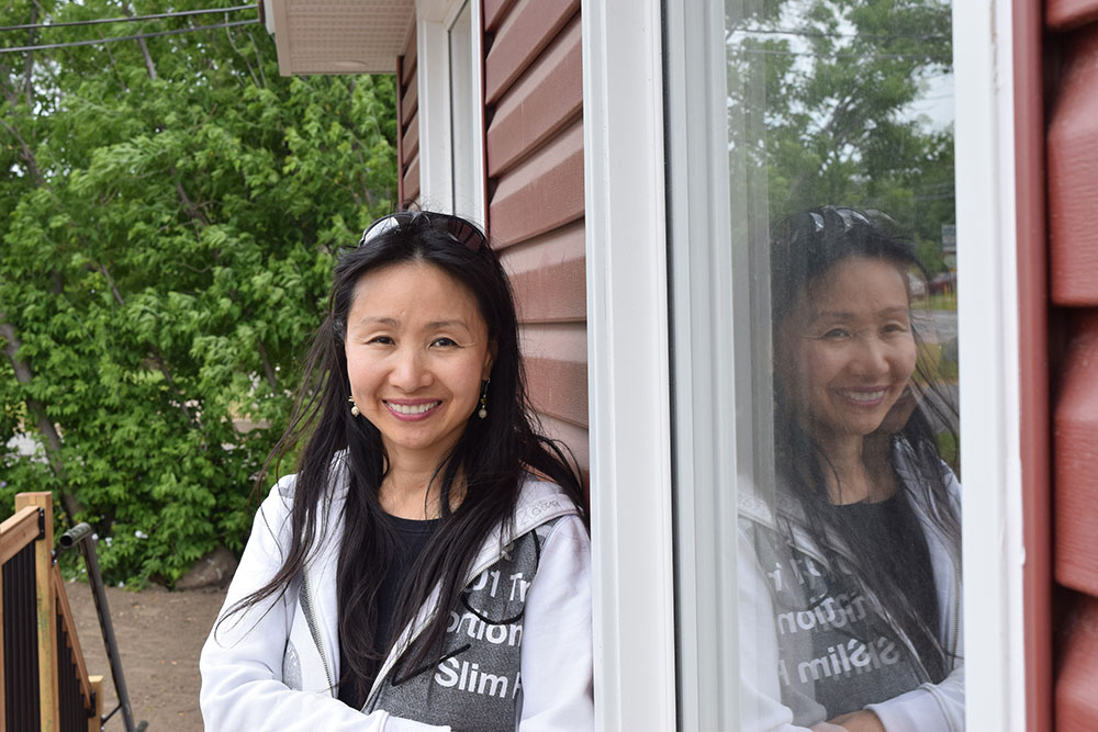 Margarita Chen outside Red Gables on Carp Road, just days before the opening. Photo by Devyn Barrie.