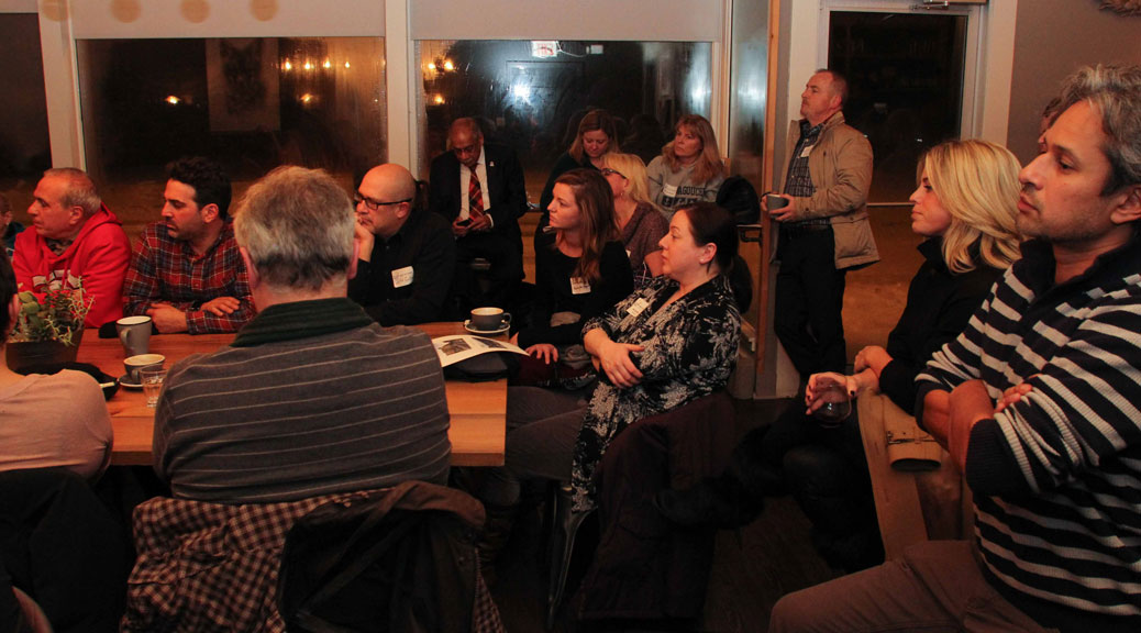 Acozy night at Quitters for a panel discussion on Re-Inventing Stittsville Main Street. Photo by Barry Gray.