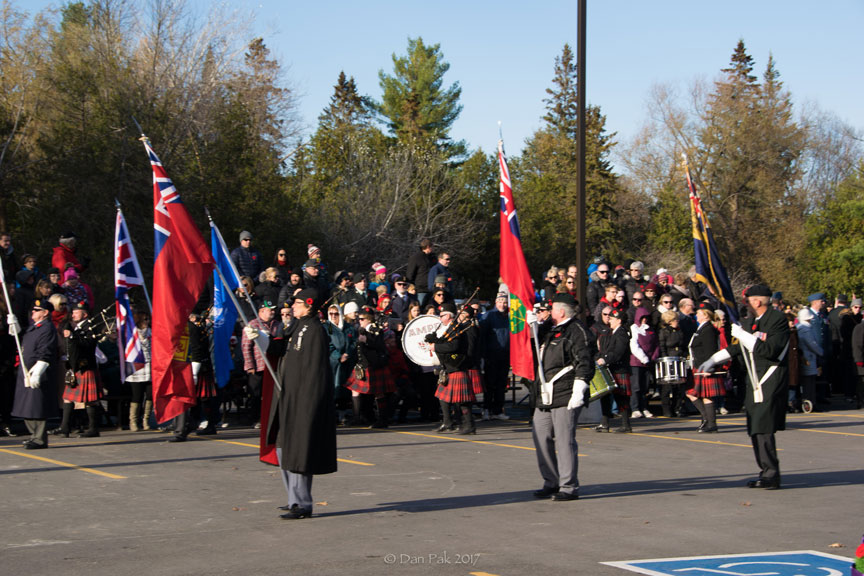 The Stittsville Legion colour party. Photo by Dan Pak.