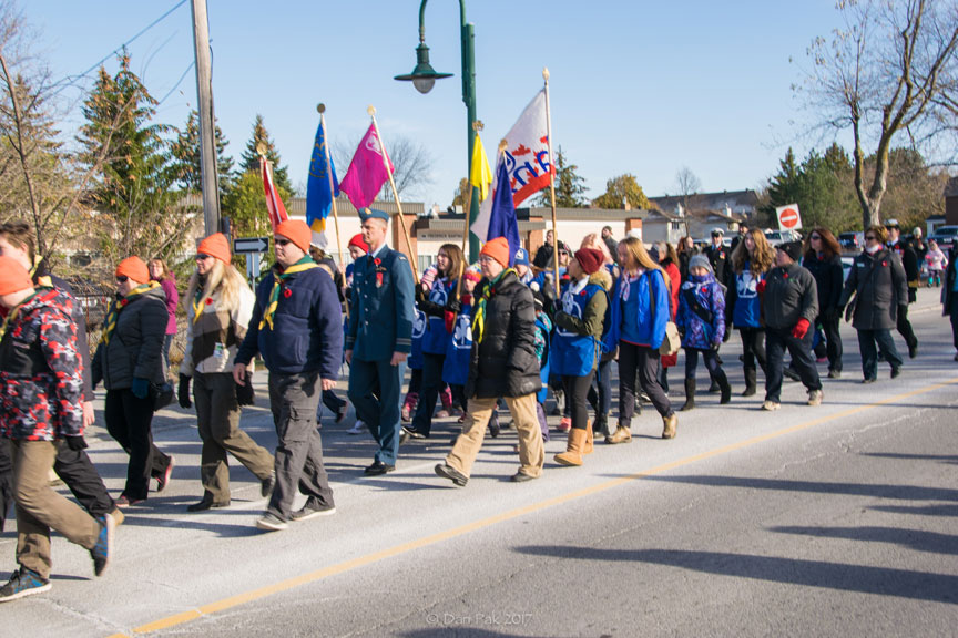 Remembrance Day Parade on Stittsville Main Street. Photo by Dan Pak.