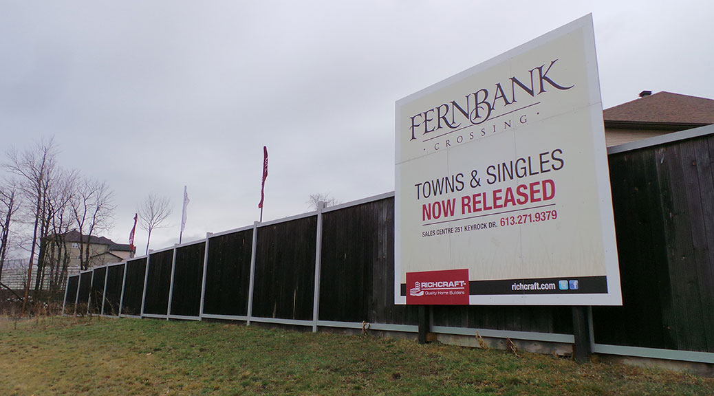 Richcraft billboard advertising Fernbank Crossing