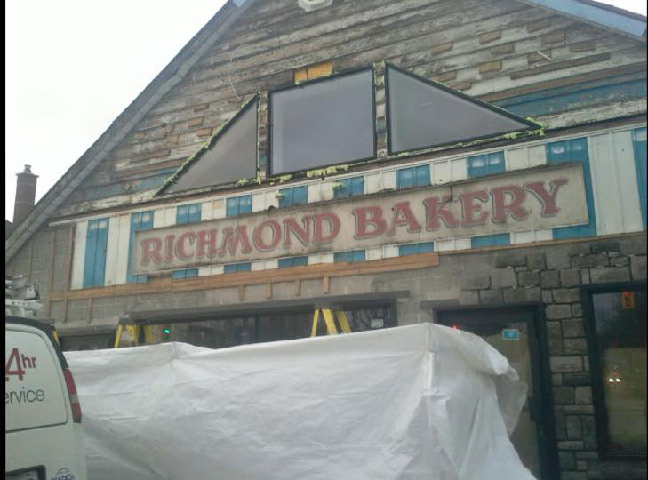 Vintage Richmond Bakery sign. Photo via Deb Mallet.