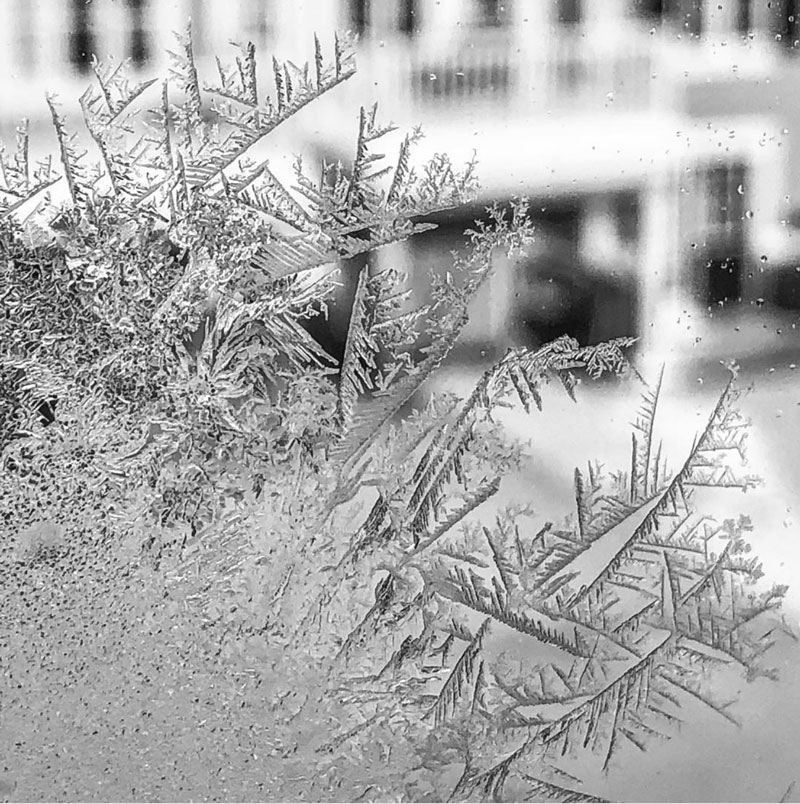 """Crystal by Richard Monette. """"It's another cold one. Stay warm out there,"""" he says."""