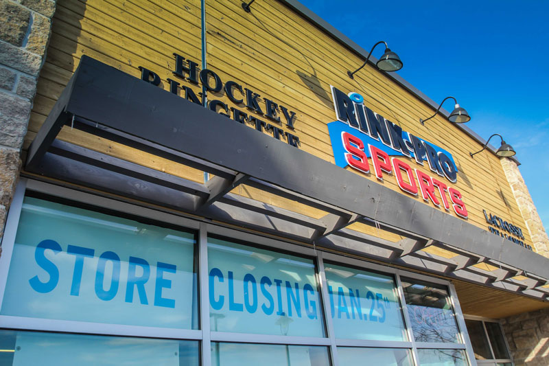 Exterior of Rink-Pro Sports in the Jackson Trails Plaza. Photo by Barry Gray.