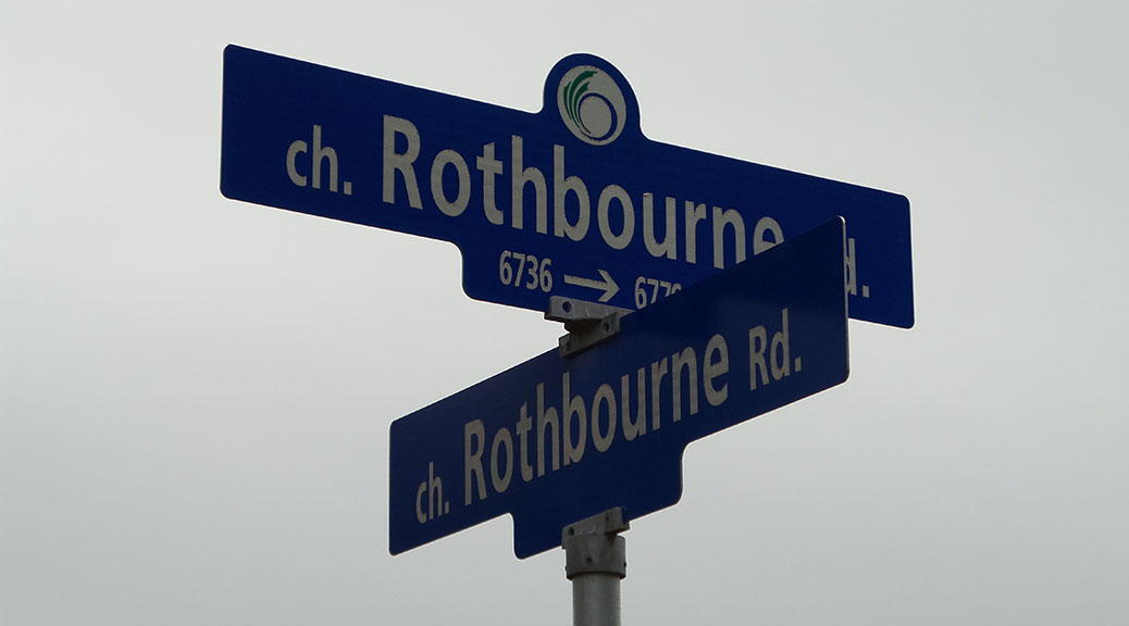 Road signs: Rothbourne at Rothbourne