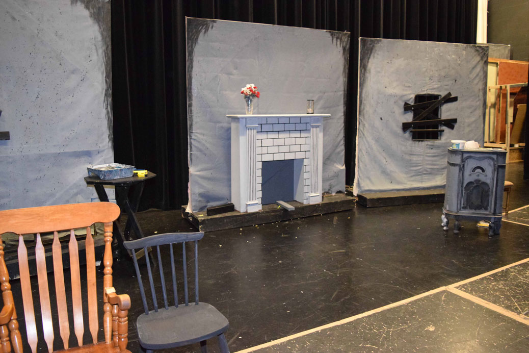 The set comes together for Night of the Living Dead, which opens on Wednesday.