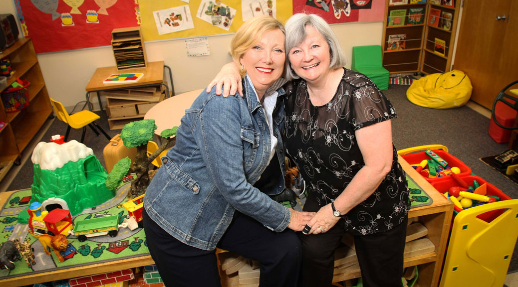 Sue Blackhall and Judy Starr (l-r) are two teachers at Stittsville Co-Operative Nursery School who are retiring this year after many years of working at the facility. (Photo by Barry Gray/For StittsvilleCentral.ca)
