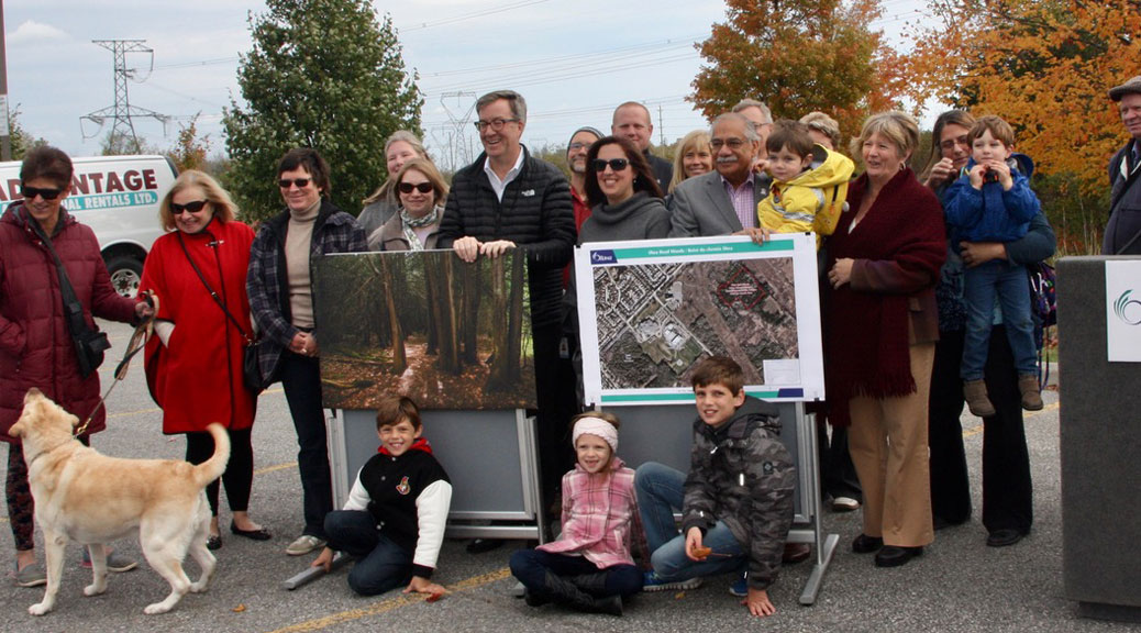 Mayor Jim Watson and Councillor Shad Qadri joined local residents on Tuesday to announce plans to protect the Shea Woods. Photos by Frank Cianciullo.