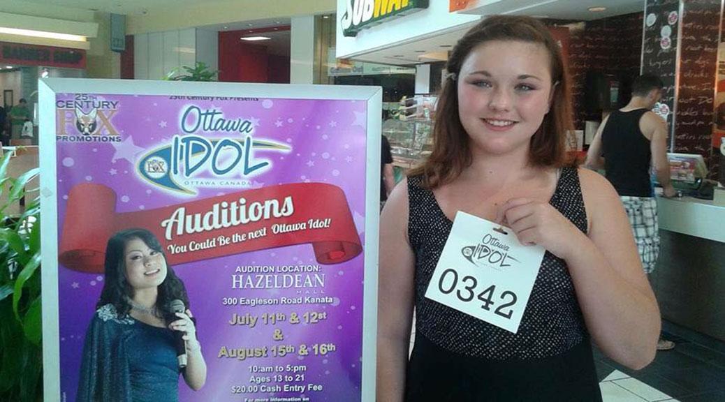 Stittsville's Shiane Rawlings auditions at Ottawa Idol event.