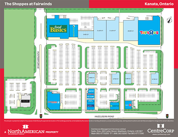 Shoppes at Fairwinds site plan from the North American Development Group