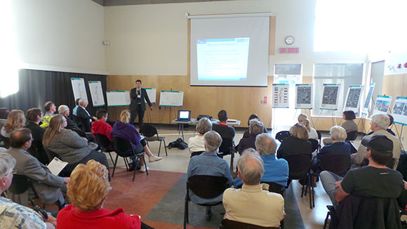 About 100 residents attended the meeting at the Goulbourn Recreation Complex.