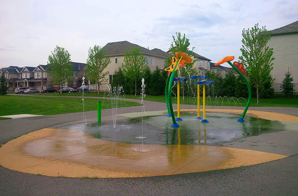 Splash pad at Bandmaster Park