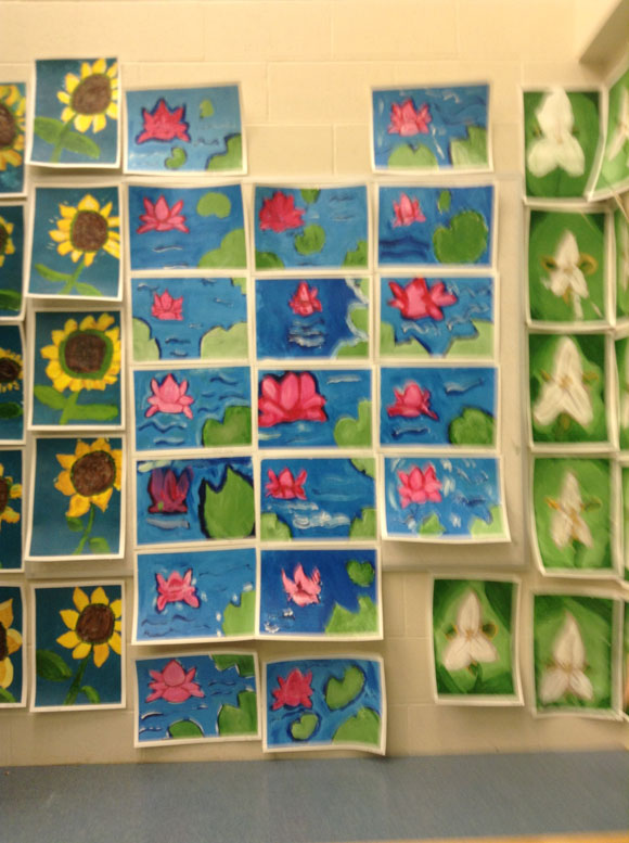 Artwork from students at Stittsville Public School, working with Kate Ryckman.