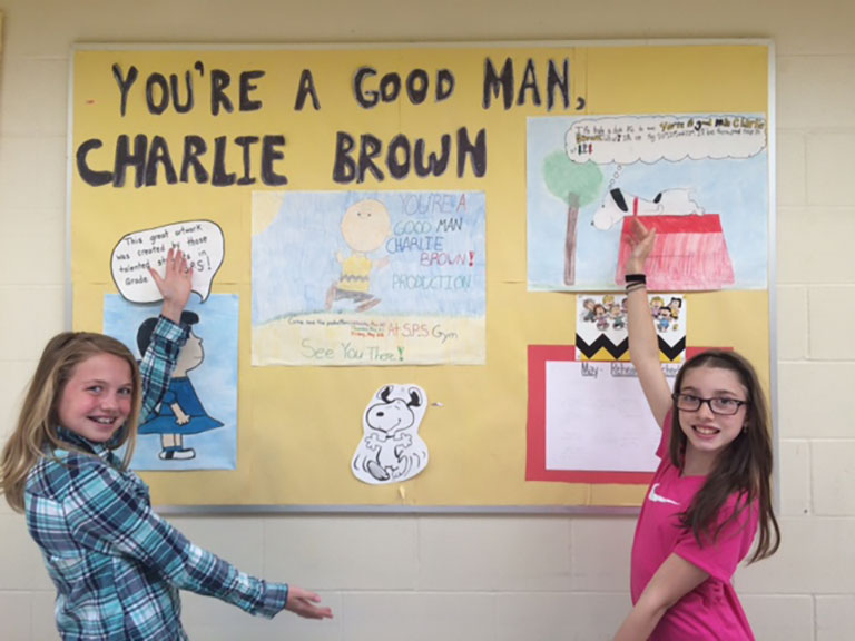 "Grade six students of Stittsville Public School will present a production of ""You're a Good Man, Charlie Brown!"" on May 22."