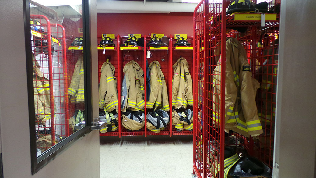 Equipment room at Station 81