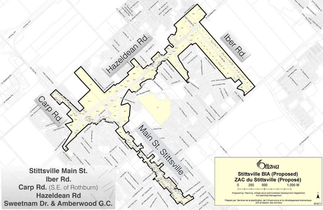 Proposed boundaries for the Stittsville BIA