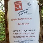 Clean-up at the Abbott Street dog park on Sept 10