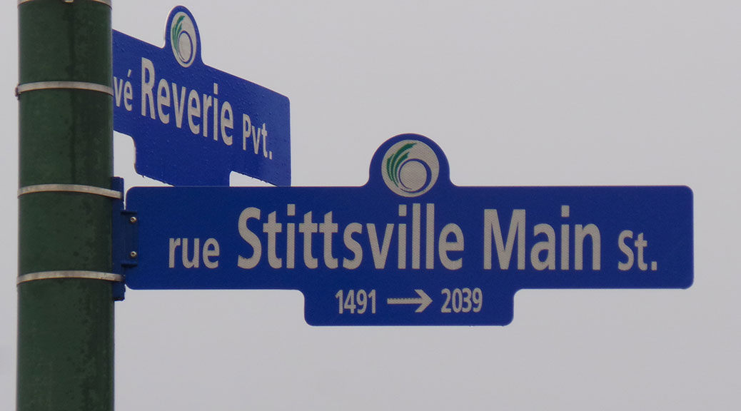 Stittsville Main Street sign. Photo by Glen Gower.