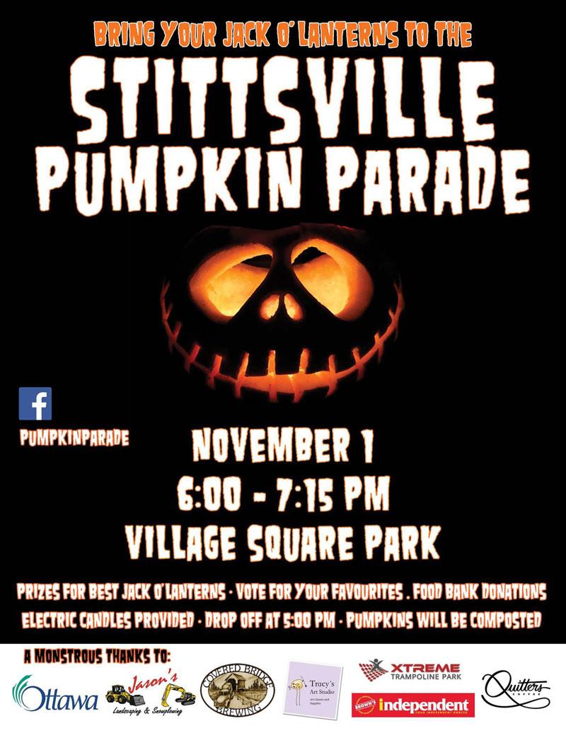 Stittsville pumpkin parade 2017