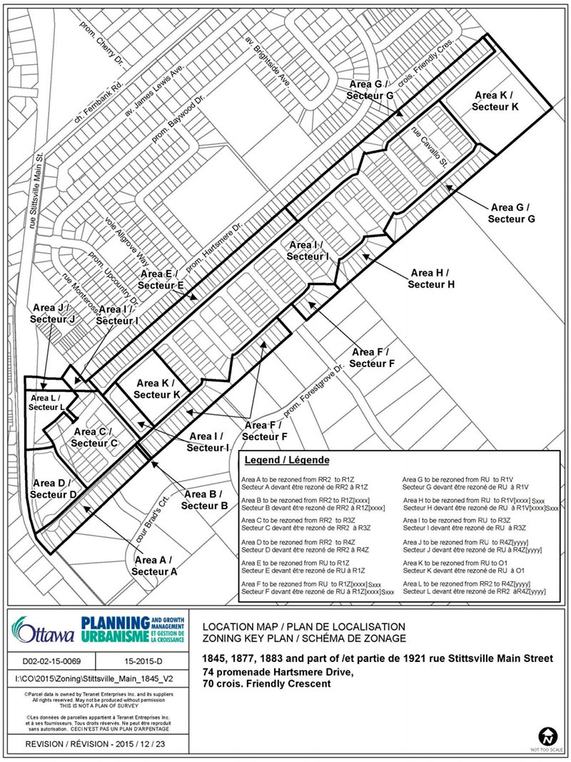 Stittsville South zoning map