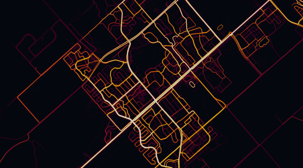 Strava Heatmap, with a close-up on Stittsville