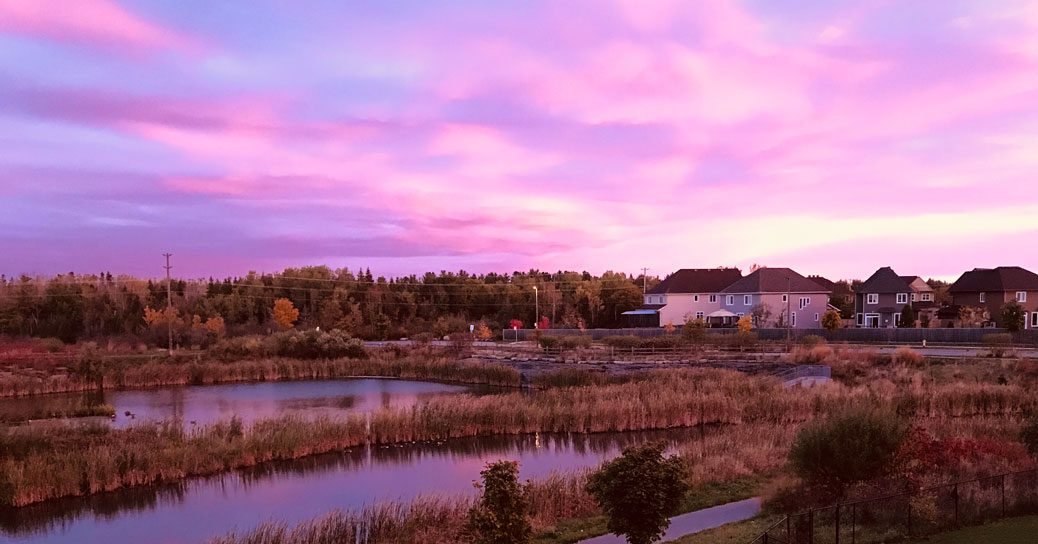 Michelle Boudreau shares this photo of a beautiful sunrise over Jackson Trails on Tuesday morning.
