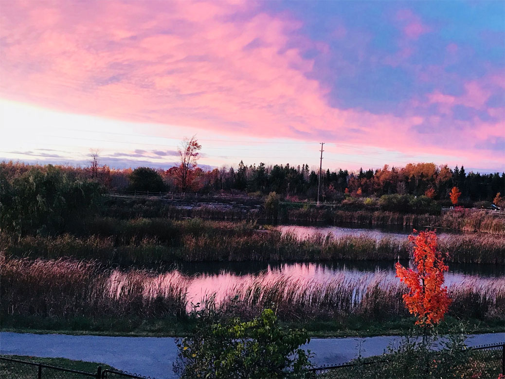 Michelle Boudreau shares another photo of a beautiful fall sunrise over Jackson Trails.