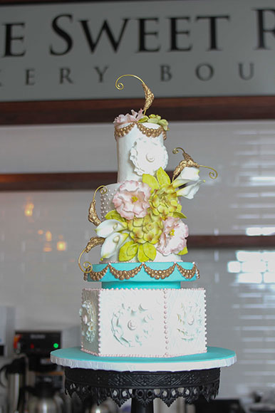 One of the cakes at Sweet Room Bakery Boutique. Photo by Barry Gray.