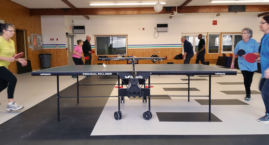 Stittsville table tennis at the Johnny Leroux arena
