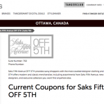 Luxury store Saks could open at Kanata Tanger Outlets this spring