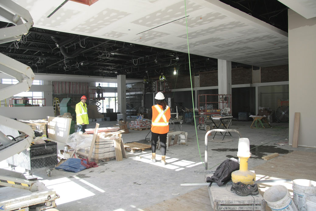 Tanger restaurant area under construction