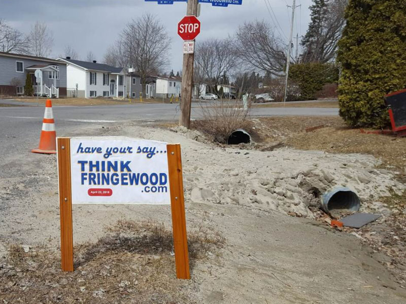 Think Fringewood sign. Photo via Facebook.