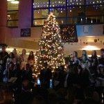 PHOTOS: Community comes together for Sacred Heart's tree lighting ceremony