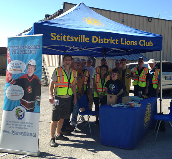 Tysen's Mission to a Million: E-waste drive with Stittsville Lions