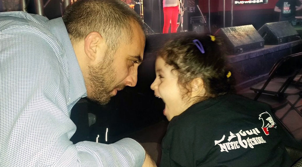 Special guest 6-year old Lamitta El Roz and her dad Rob, enjoying the show.