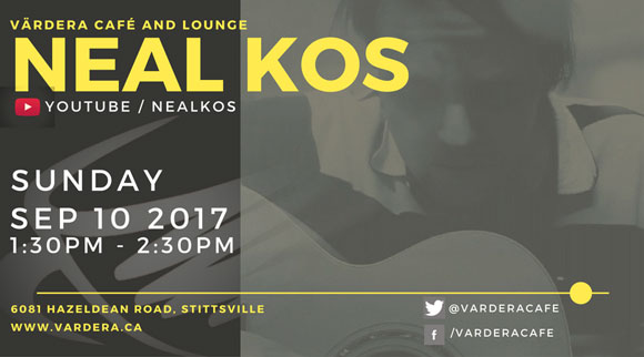 Live musical performance by local musician Neal Kos