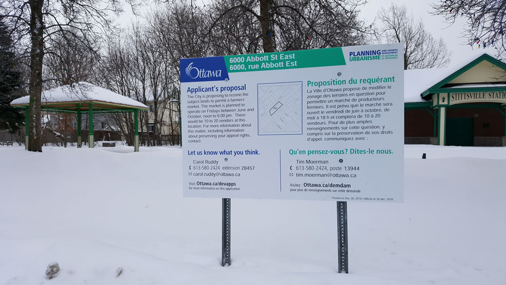 Snow today, snow peas tomorrow? A zoning bylaw amendment is proposed for Village Square Park that would allow for a weekly farmers' market.